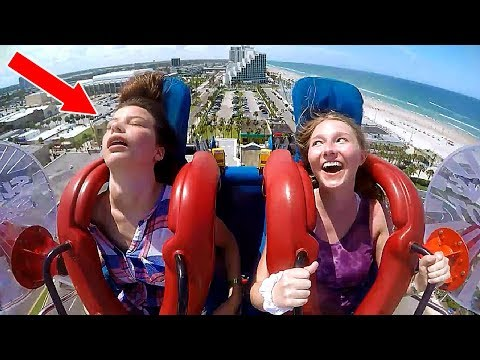 Girls Passing Out #3 | Funny Slingshot Ride Compilation