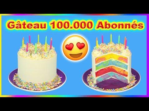 gateau pour mes 100.000 abonnÉs - youtube