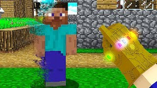 THANOS CONSEGUE DESTRUIR O MUNDO!! (MINECRAFT)