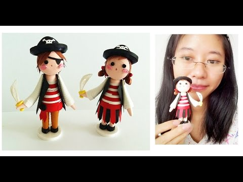 Cute arribean Pirates Girl //3D Quilling Superhero Kids  Series Learning Video