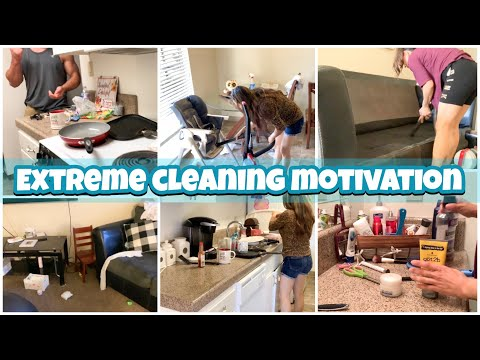 Messy House Clean With Me || Extreme Cleaning Motivation || Speed Clean With Me