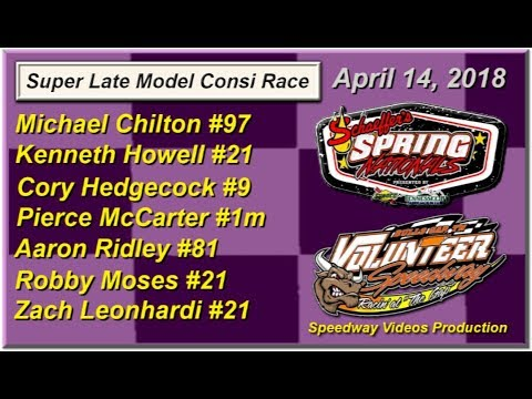 Spring National Series Consi Race @ Volunteer Speedway April 14, 2018