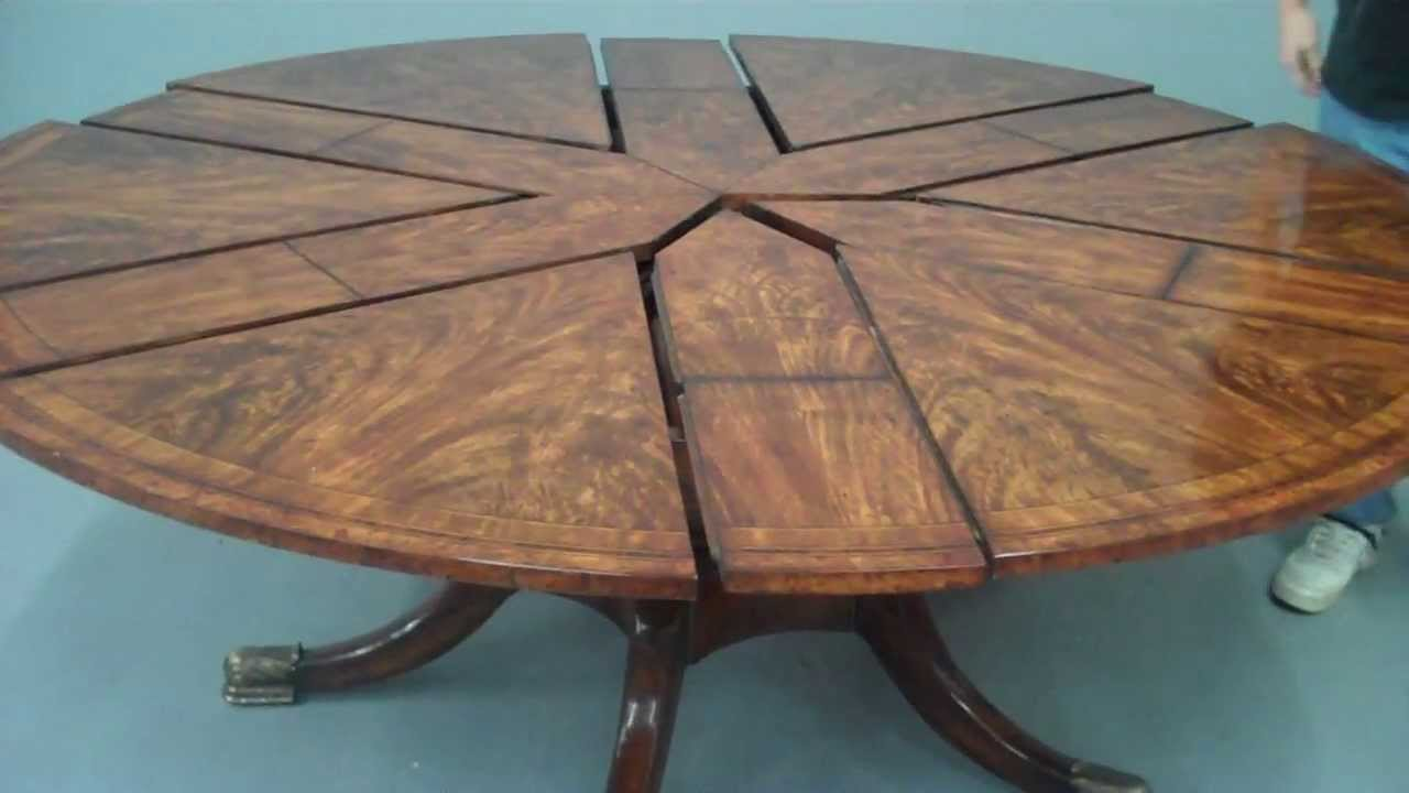 Awesome 308   Althorp Jupe Table Featuring Flame Mahogany, Rosewood And Burl Inlay    Opening