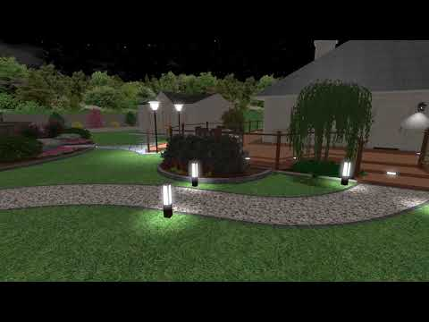 "3D Garden design in NAVAN Co. Louth ""NIGHT TIME VIEW"" by Waterwell Patio & Paving Centre"