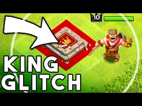Barbarian King Glitch? - WTF Is He Doing - Clash Of Clans War Glitch