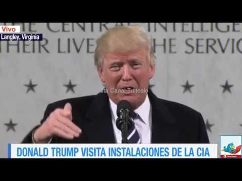 Donald Trump visita instalaciones de la CIA en Langley Virginia Video