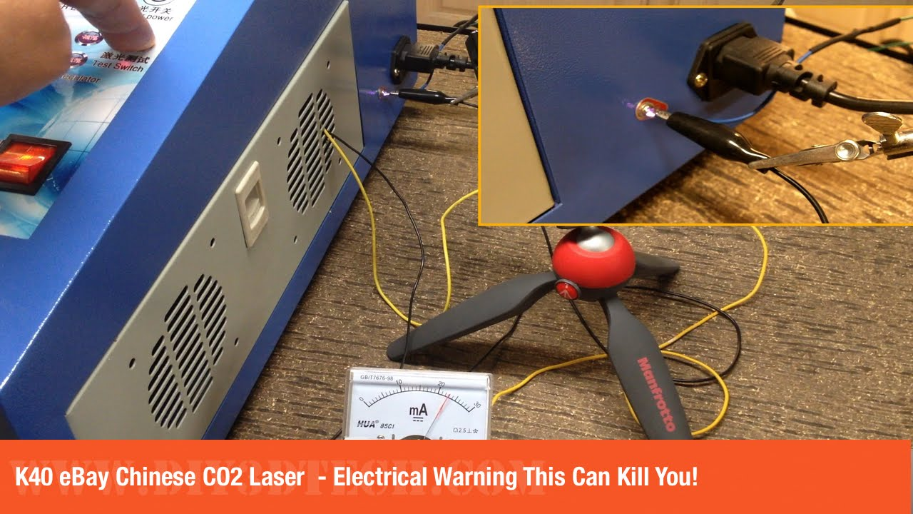 K40 eBay Chinese CO2 Laser  Electrical Warning This Can