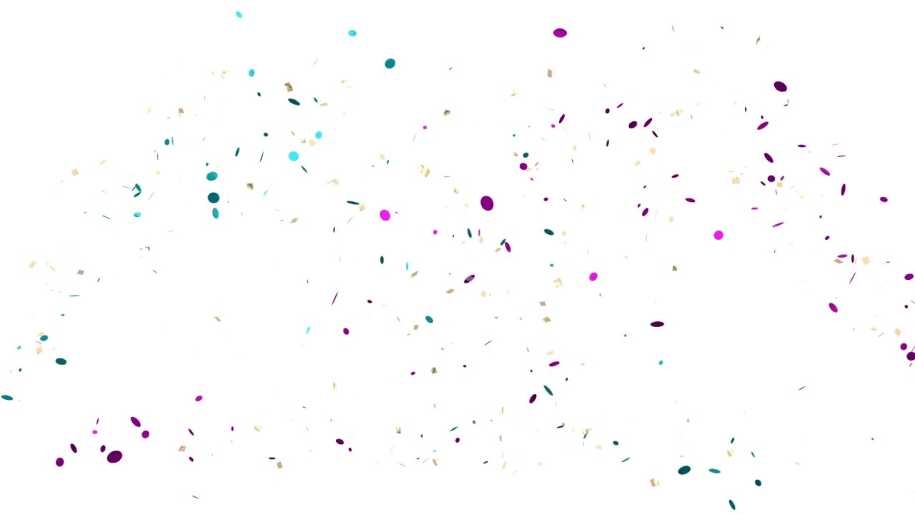 fountain of confetti on white background youtube