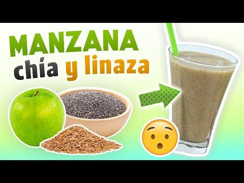 dieta de manzana verde chia y linaza