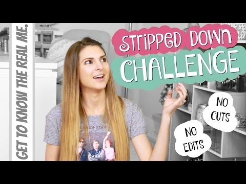 THE REAL ME // Stripped Down Challenge   SoCraftastic