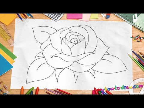 how-to-draw-a-rose---*new-2015*-easy-step-by-step-drawing-lessons-for-kids