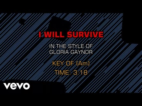 Gloria Gaynor - I Will Survive (Karaoke)