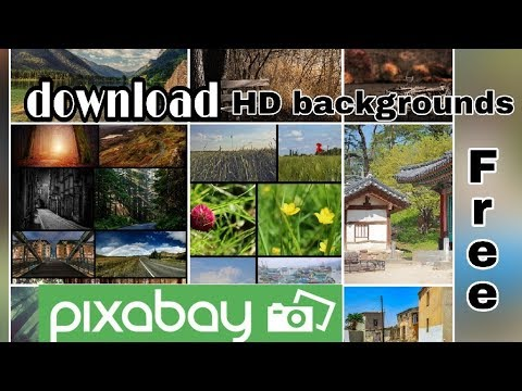 How to download HD photos and background free || pixabay app ||