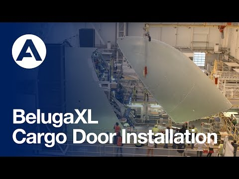 First BelugaXL is getting its cargo door installed