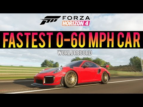 Forza Horizon 4 - Fastest 0-60MPH In The Game! - World Record Attempt thumbnail