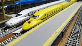 鉄道模型、923形ドクターイエロー新神戸駅発車メロディ銀河鉄道999