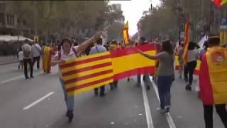 'Cataluña sí, España también': el día de la Fiesta Nacional en Barcelona