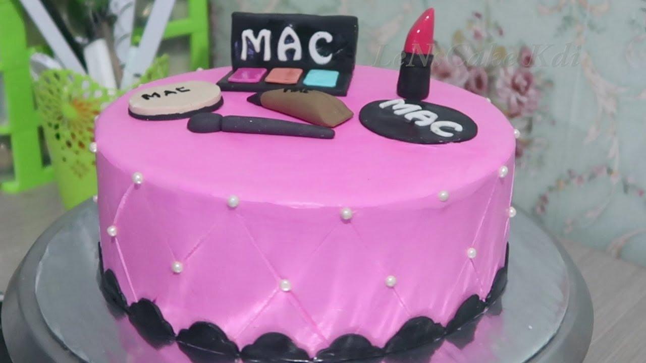 Happy Birthday Cake For Girls Newest Birthday Cake Makeup Tools Cake Tart Simple