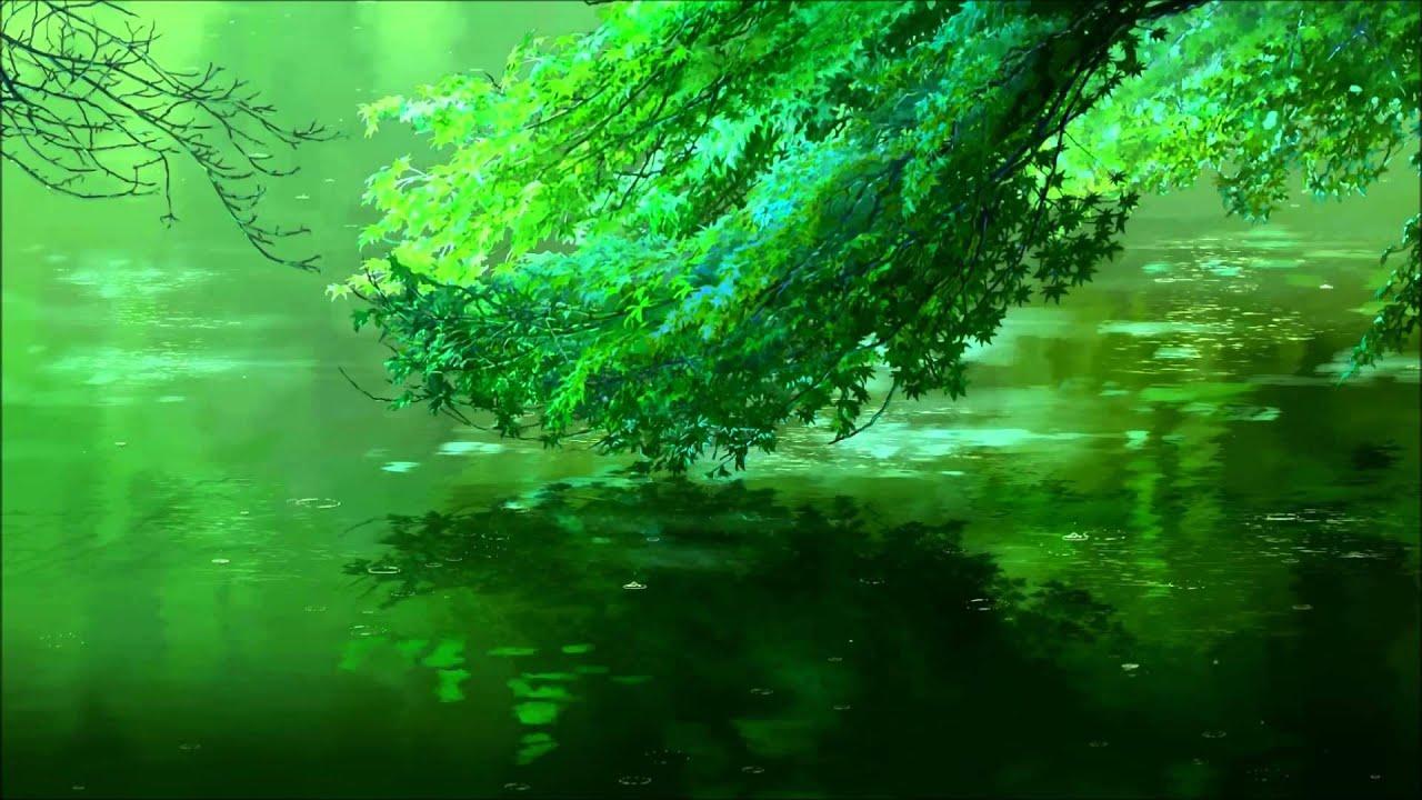 anime rain green wallpaper - photo #34