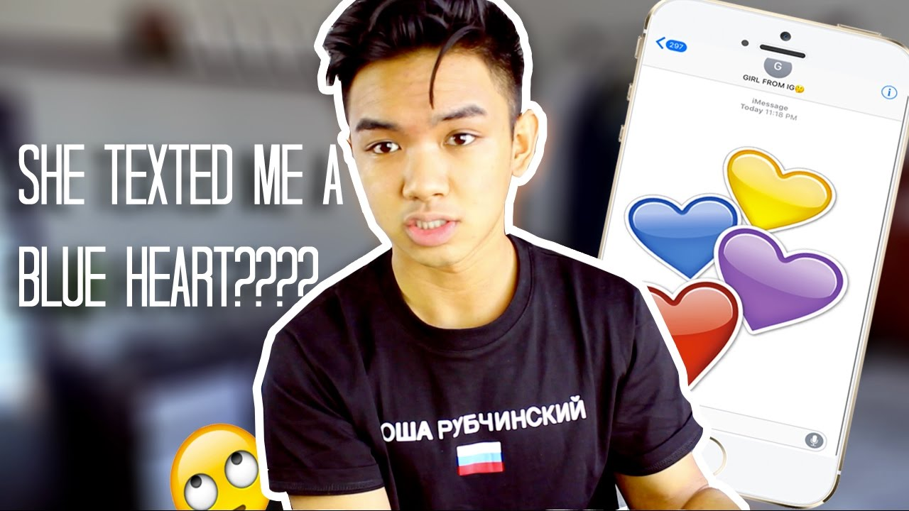 DOES THE COLOUR OF THE HEART EMOJI MATTER???? - YouTube