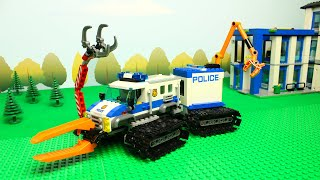 LEGO Experimental trucks and cars for kids , bulldozer tractor and train