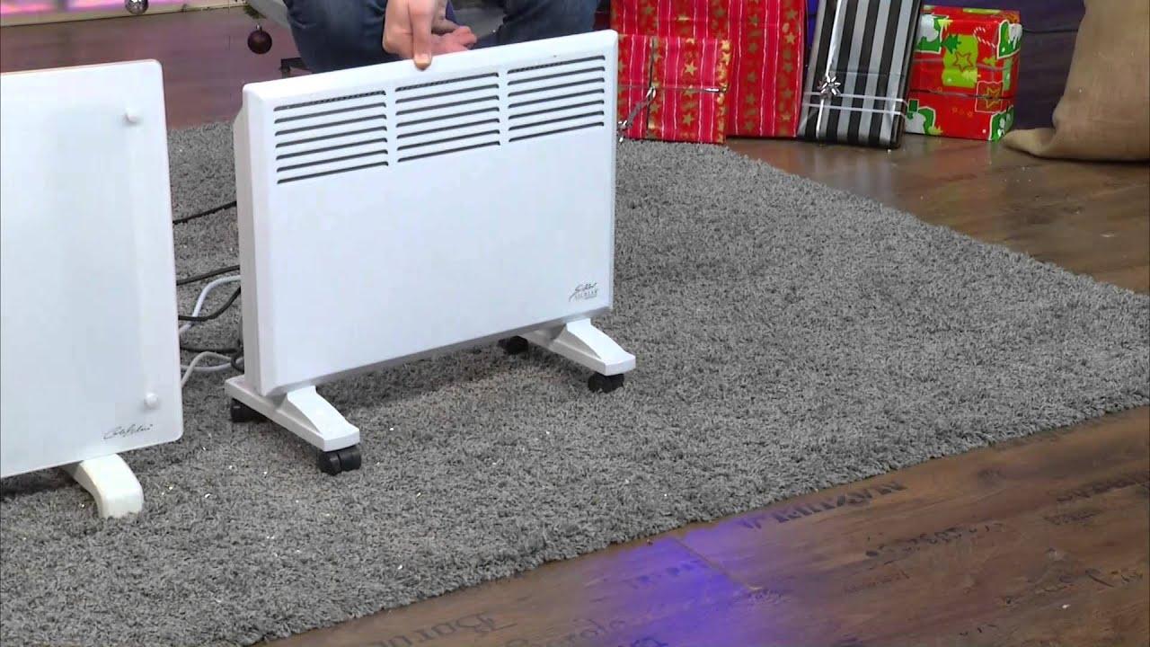 sichler mobiler konvektor heizk rper mit rollen 1000 w youtube. Black Bedroom Furniture Sets. Home Design Ideas