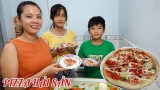 Làm bánh pizza hải sản bằng chảo đơn giản tại nhà