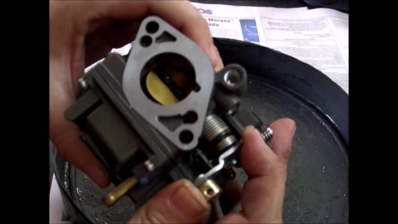 Motor Popa Yamaha F20 2014 - 4 Tempos - 2/4 - Revisão Carburador e Sist. Alimentação