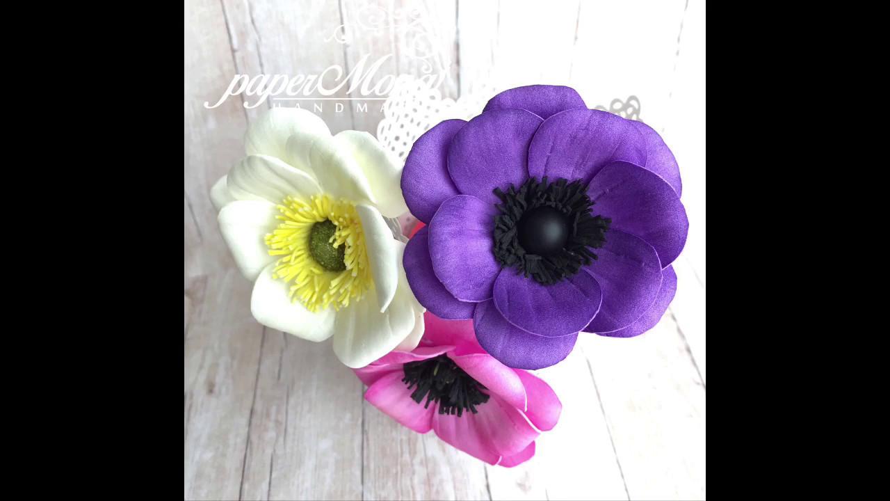 Foamiran Anemone Flower Step By Step Tutorial Youtube