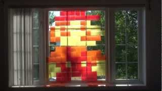8-Bit Super Mario Sticky Note Window Art