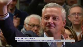 Primaire de la droite : Bruno Le Maire en meeting à Saint-Germain-en-Laye