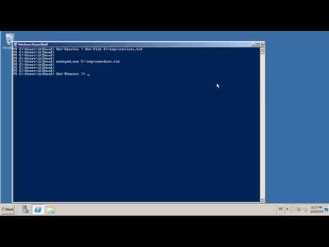 redirect output into a file in powershell