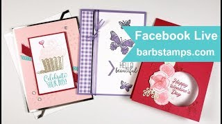 Multiple Cards with Occasions Catalog Products - Facebook Live