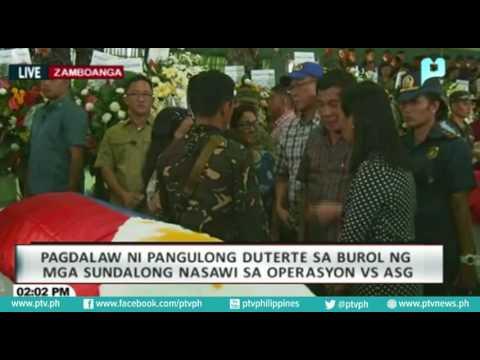 Pagbisita ni PRRD sa burol ng mga sundalo sa Zamboanga City na nasawi sa engkuwentro kontra ASG