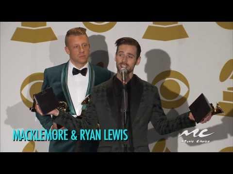 "Macklemore & Ryan Lewis Talk Grammy's & Ryan's Sister Getting Married During ""Same Love"" Performance"