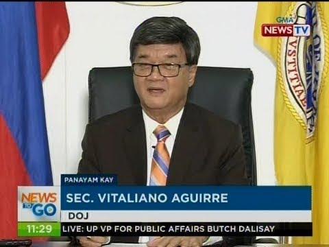 NTG: Panayam kay Sec. Vitaliano Aguirre, DOJ