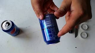 How to make mini popcorn machine of cans and candles