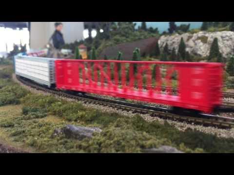 N-scale model train set at the Ottawa train station