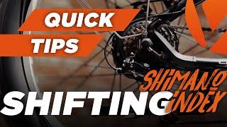 Shifting Using the Shimano SIS Index Thumb Shifter