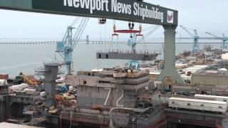 Sen Warner at Newport News Shipbuilding