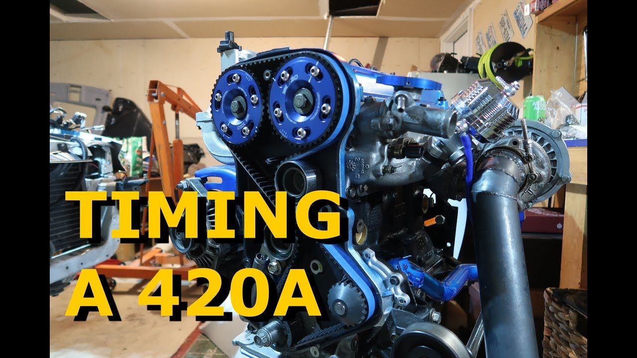 Installing Timing Belt and OBX Cam Gears - 420a Eclipse 2G Project