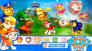 PAW PATROL ACTION PACK RESCUE TEAM Paw Patrol Stop Motion Videos  Patrulla Canina Paw Patrol Toys