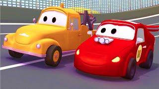 Tom Der Abschleppwagen und die Rennwagen in der Auto-Stadt |LKW-cartoon für Kinder  ️