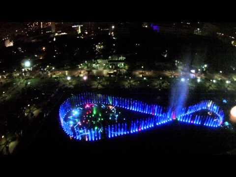Rizal Park Dancing Fountain at night, Manila Philippines