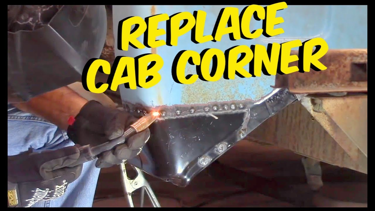 Replace cab corner c10 chevy - YouTube