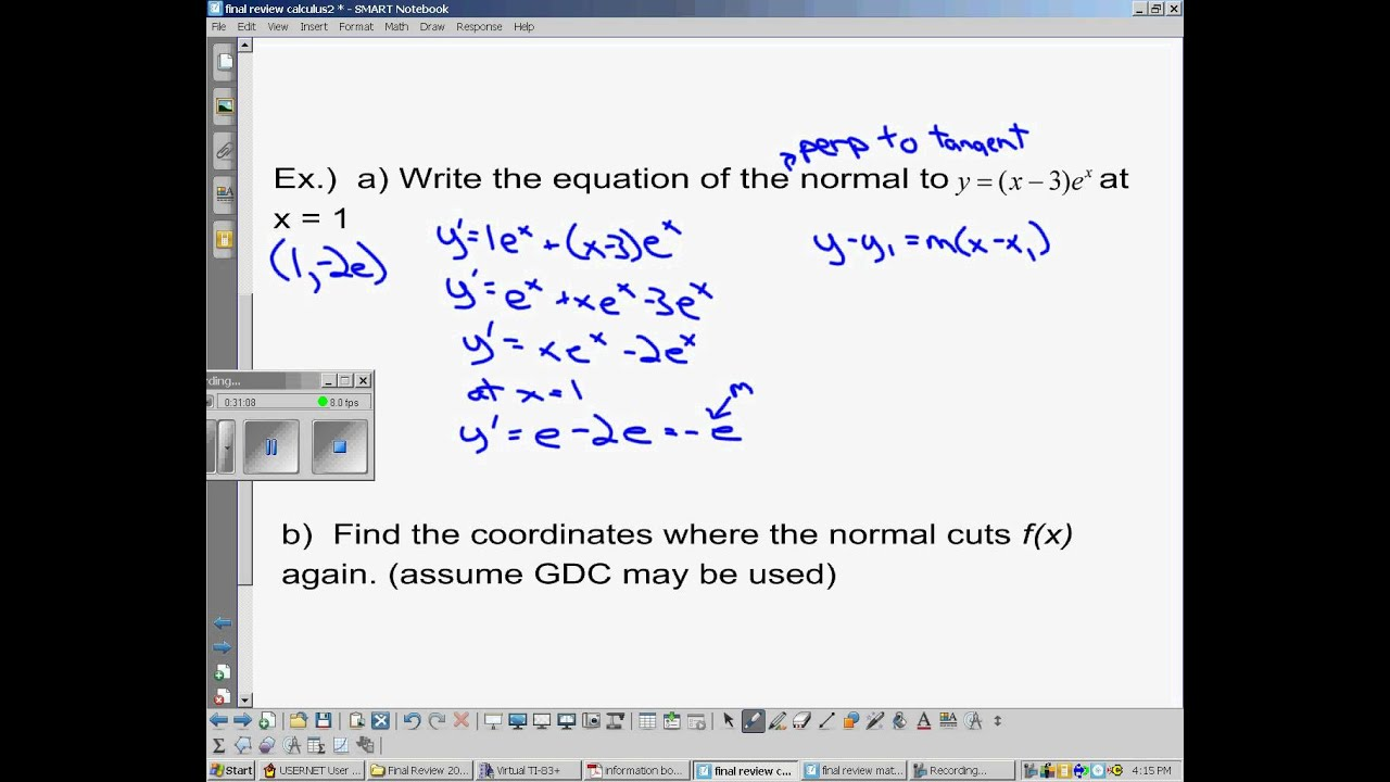 IB Math SL Calculus Review - Topic 7 (part 2 of 2)