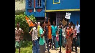 BJP gherao TMC leader& 39 s house demanding return of cut money
