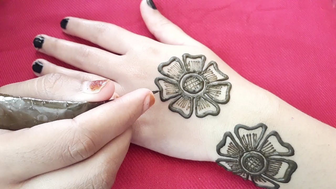 Henna Flower Designs: Beautiful Flowers Simple Easy Henna Mehndi Designs For