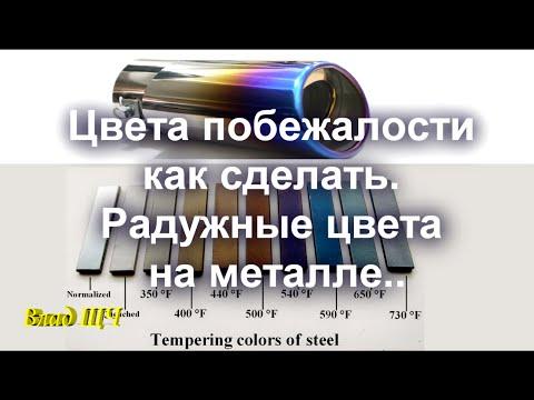Цвета побежалости на металле. Как сделать радужные цвета на стали