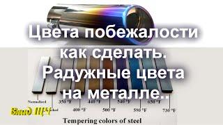 Цвета побежалости на металле. Как сделать радужные цвета на стали(Приветствую, Вас! Для начала рекомендую хорошие интернет магазины - товары и услуги по доступной цене: Инст..., 2016-04-02T06:13:30.000Z)